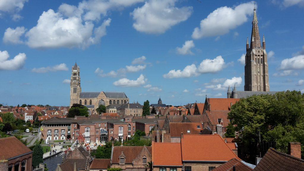 Brugge vanaf brouwerij De Halve Maan