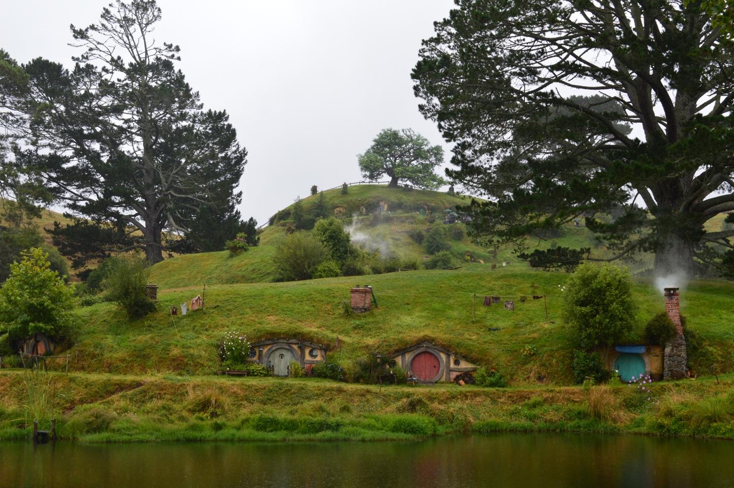Hobbiton Hobbit huisjes Nieuw Zeeland