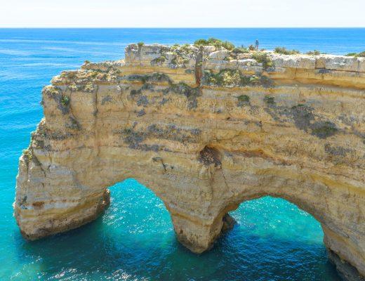Rotsformaties Albufeira Algarve Portugal