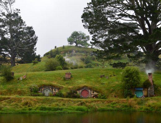 Hobbit huisjes - film locaties Nieuw Zeeland