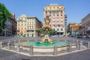 Fonteinen in Rome: Triton Fontein