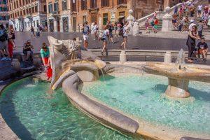 Fonteinen in Rome: Barcaccia Fontein