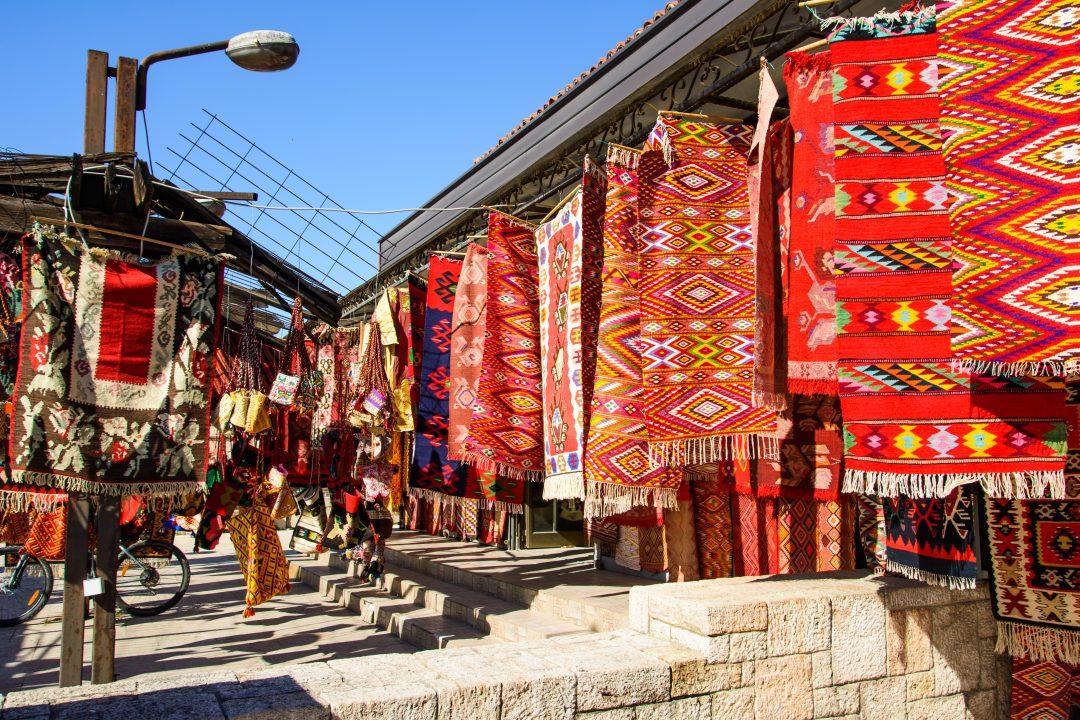 Tapijten in Skopje, Macedonië