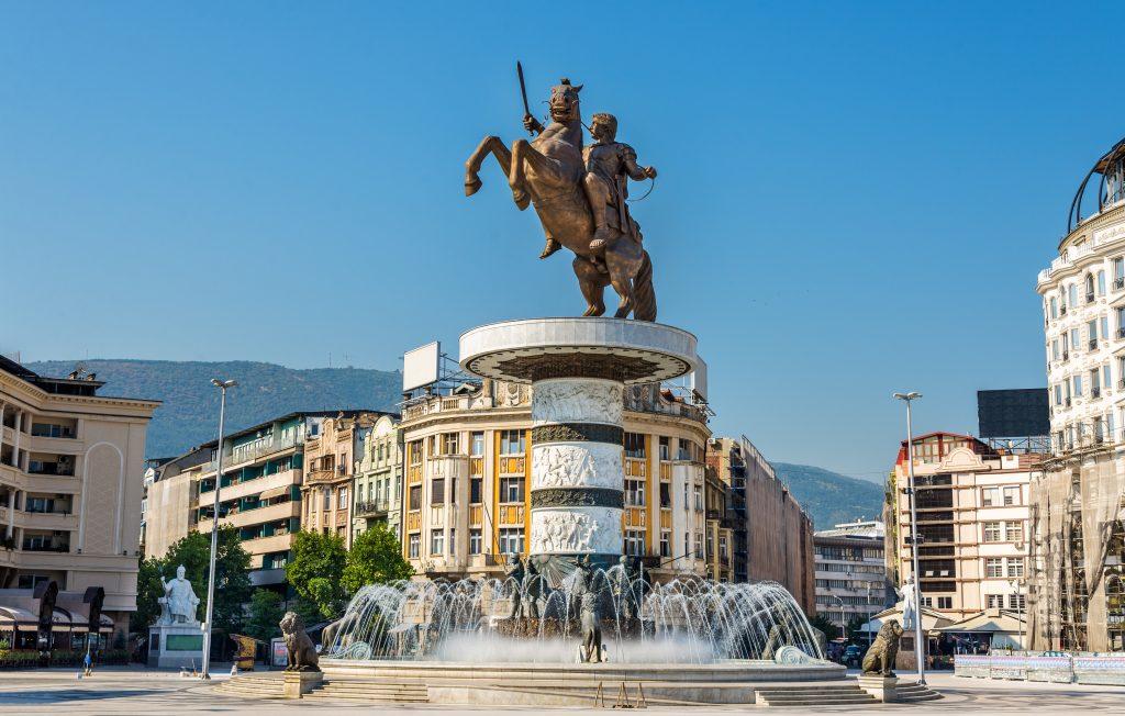 Het Alexander de Grote Monument in Skopje
