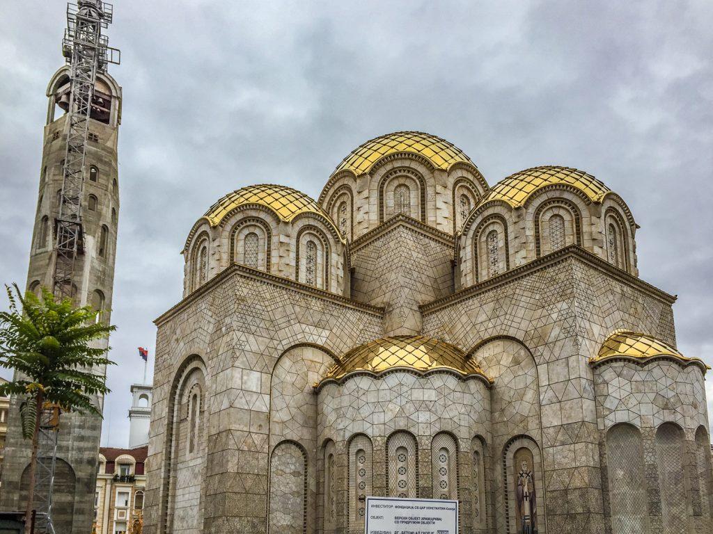 de nieuwe Orthodoxe Kerk van de Heiligen Constantijn en Helena